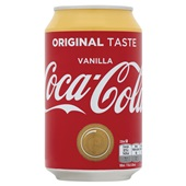 Coca Cola vanille blik 33 cl
