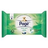 Page vochtig toiletpapier aloë vera navulverpakking