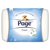 Page vochtig toiletpapier cotton fresh start met bewaardoos
