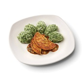Culivers (70) groenteburger met peterseliesaus-uitjes en spinaziestamppot