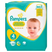 Pampers premium protection luiers midi 4 carry pack voorkant