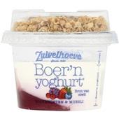 Zuivelhoeve boer'n yoghurt muesli bosvruchten voorkant