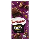 Verkade chocoladereep Espresso Koffie Crunch Puur