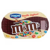Danone vanille yoghurt m&m's