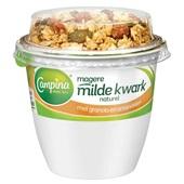 Campina magere kwark naturel granola amandel