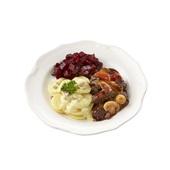 Culivers (22) boeuf bourguignon, rode bietjes en aardappelschotel met spek en ui