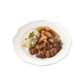Culivers (20) Gelders stoofpotje kalfsvlees, stoofappeltjes en aardappelpuree met spekjes