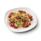 Culivers (127) vegetarische balletjes in peperonatasaus, groentemix en volkoren spaghetti  zoutarm