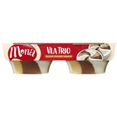 Mona Mona trio vla karamel, chocolade en slagroom