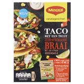 Maggi taco Zuid-Afrikaanse braai