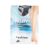Foot-Leg panty lichtglanzend zwart maat 44-48, 15 denier
