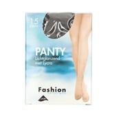 Fashion panty lichtglanzend grafiet maat 44-48, 15 denier