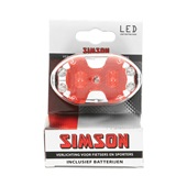 Simson Achterlicht 5xLed rood incl. houder en batterijen