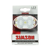 Simson Voorlicht 5xLed wit incl. houder en batterijen