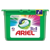 Ariel 3 in 1 pods wascapsules color & style