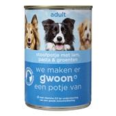 Gwoon adult hondenvoer stoofpotje met lam, pasta en groenten
