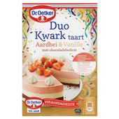 Dr. Oetker duo kwarktaart aardbei & vanille