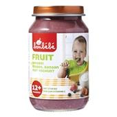 Bonbébé Baby/peuter fruithapje Aardbei Bosbes Banaan met yoghurt