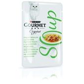 Gourmet crystal kattenvoer soep met kip en groenten