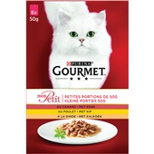 Gourmet mon petit kattenvoer met gevogelte multipak