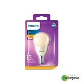 Philips LED kogellamp flame E14/4W (15W)