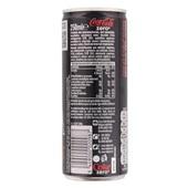Coca Cola Zero achterkant