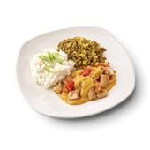 Culivers (71) vegetarische madras met groene linzen en kokosrijst