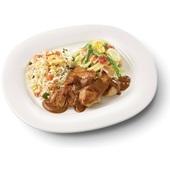 Culivers (27) kip in satésaus met sajour lodeh en nasi goreng