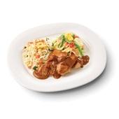 Culivers (97) kip in satésaus met sajour lodeh en nasi goreng zoutarm
