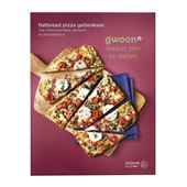 Gwoon flatbread pizza geitenkaas pruim