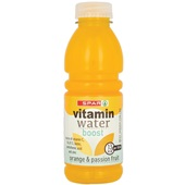 Spar vitaminewater orange voorkant