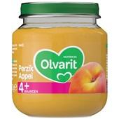 Olvarit baby/peuter fruithapje perzik en appel
