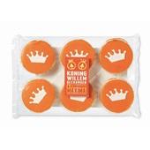 Aviateur Koek Oranje Glace Koek Met Kroon