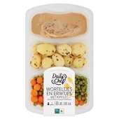 Daily Chef worteltjes en erwtjes met kipfilet en krieltjes