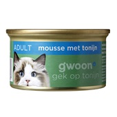 Gwoon kattenvoer fijne mousse met tonijn