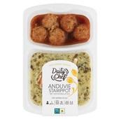 Daily Chef andijvie stamppot met gehaktballetjes