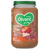 Olvarit baby/peuter maaltijd bruine bonen appel rundvlees en rijst