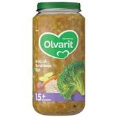 Olvarit baby/peuter maaltijd broccoli, rundvlees en rijst