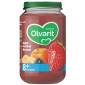 Olvarit baby/peuter fruithapje appel, aardbei en banaan