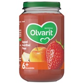 Olvarit baby/peuter fruithapje appel, aardbei en peer