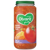 Olvarit baby/peuter maaltijd tomaat, kalkoen en pasta