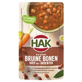 Hak soep bruine bronen