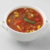 Culivers (5) tomatensoep met prei zoutarm