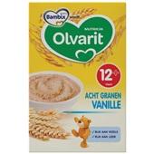 Olvarit baby/peuter ontbijtpap granen vanille