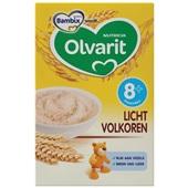 Olvarit baby/peuter ontbijtpap licht volkoren voorkant