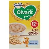 Olvarit baby/peuter ontbijtpap 8 granen voorkant