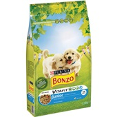 Bonzo junior hondenbrokken menu met kip melk en groenten voorkant