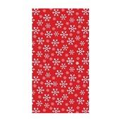 Duni tafellaken red snowflake 138 x 220 cm