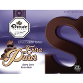 Droste chocolade letter extra puur voorkant