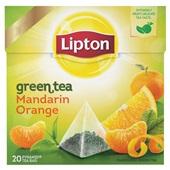 Lipton theezakjes groene thee madrin orange